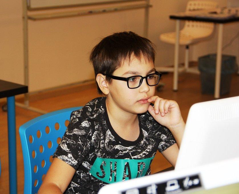 Процесс обучение детей программированию